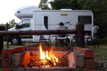 Umalazi Reserve, globe trotter, enfant et camping-car en Afrique du sud